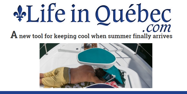"Life In Québec Features ShadyFace Sunshade As ""New Tool For Keeping Cool In Summer"""